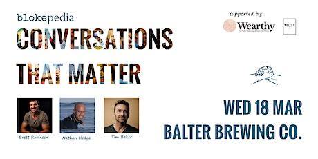 Conversations that Matter: Balter Brewing Co. tickets