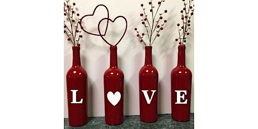 LOVE Bottle Paint Display: Sip and Craft at Magnanini Winery!!!