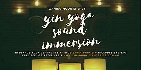 Yin Yoga Sound Immersion Under Waning Moon Feb 15 tickets