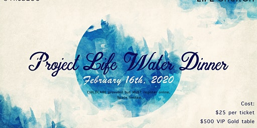 Project Life Water Dinner, Auction, Raffle