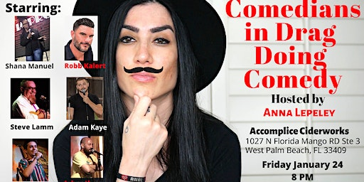 Comedians in Drag Doing Comedy at Accomplice Brewery