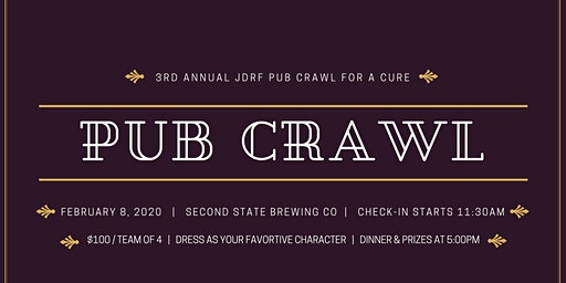 3rd Annual Cedar Valley JDRF Pub Crawl