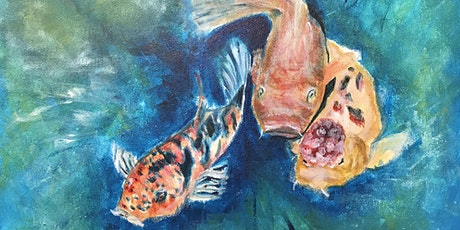 Paint & Sip - Koi Fish in Lily Pond (Hippo Art Studio) tickets