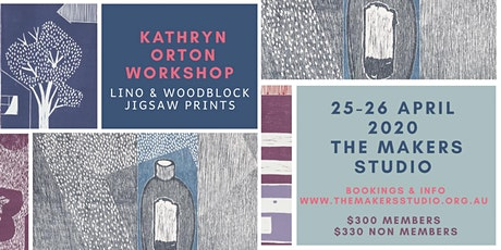 Kathryn Orton Workshop - Lino & Woodblock Jigsaw Prints tickets
