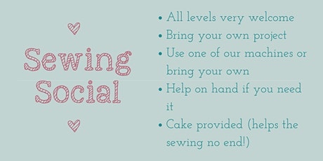 Sewing Social- all levels warmly welcomed tickets