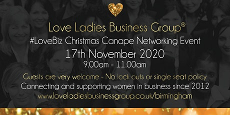 Birmingham #LoveBiz Christmas Coffee and Canapés Networking Event at The Ivy tickets
