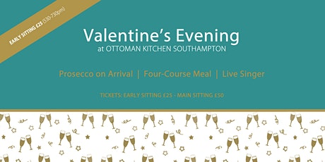 Valentines Day Southampton - Four Course Meal and Live Music tickets