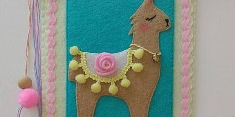 Llama Felt Wall Decor Kids School Holiday Workshop