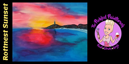 Painting Class - Rottnest Sunset - February 29, 2020