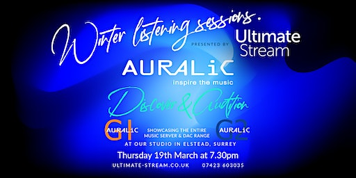 Winter Listening Sessions featuring Auralic Music Servers