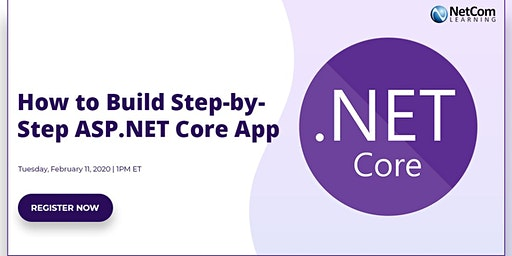 Webinar - How to Build Step-by-Step ASP.NET Core App