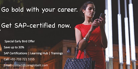 Get the advantage of being SAP Certified from absolutely anywhere! tickets