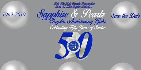 Sapphire & PearlZ  50th Charter Gala tickets