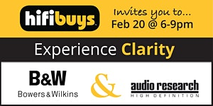 Experience Clarity with B&W and Audio Research