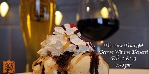 Beer vs Wine vs Dessert Love Triangle Pairing