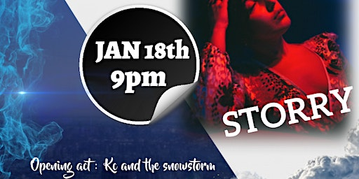 Storry with opening act KC and the Snowstorm ( Live Music )