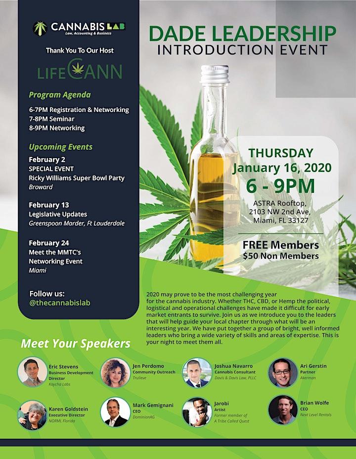 Cannabis LAB Dade Leadership Intro Event image