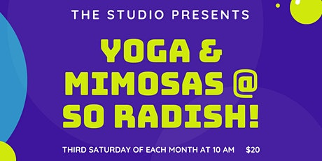 Yoga and Mimosa's at So RADish tickets