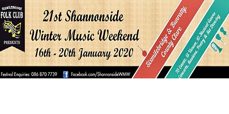 Shannonside Winter Music Weekend Ticket tickets
