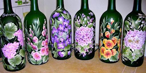 Paint and  Create:  Wine Bottle Art