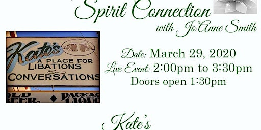 "LIVE ""SPIRIT CONNECTION"" EVENT WITH SALT LAKE MEDIUM, JO'ANNE SMITH"