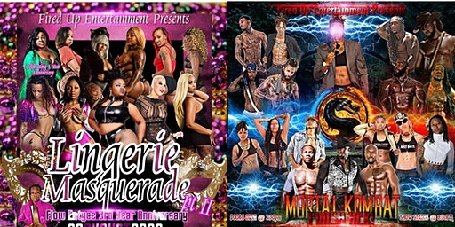 Lingerie Masquerade Aug 28th & Mortal Kombat FINISH HER Aug 29th