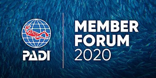 2020 PADI Member Forum Eudi Show Bologna, Italy