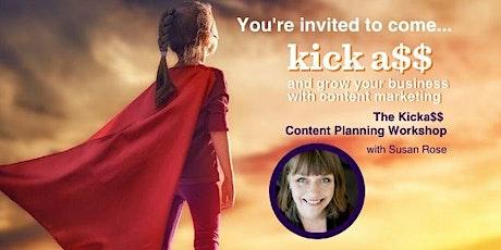 The Kickass Content Planning Workshop tickets