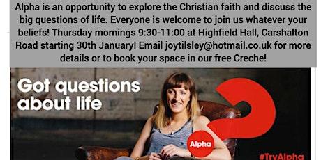 Thursday morning Alpha Course in Carshalton tickets