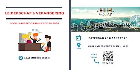VOCAP Themareeks Leiderschap & Verandering | Deel 2: Academische Sessie | Joeri Hofmans & Daan Sorgeloos tickets
