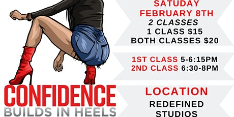 Confidence Builds In Heels Cincinnati (FEBRUARY 8th Class) tickets