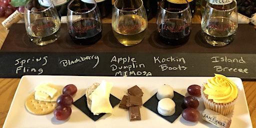 Jan Zell Wines' Cheese, Chocolate, & Cupcake Wine Pairing - 3:30 PM Seating