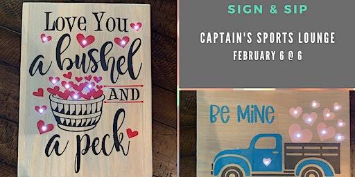 Sign & Sip DIY Workshop at Captains Sports Lounge