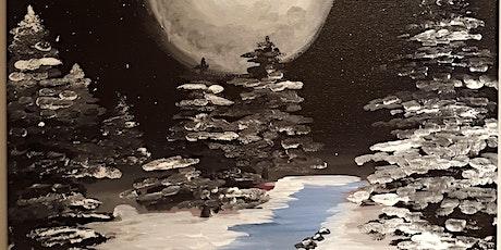 """Midnight Winter Stream"" Paint Party tickets"