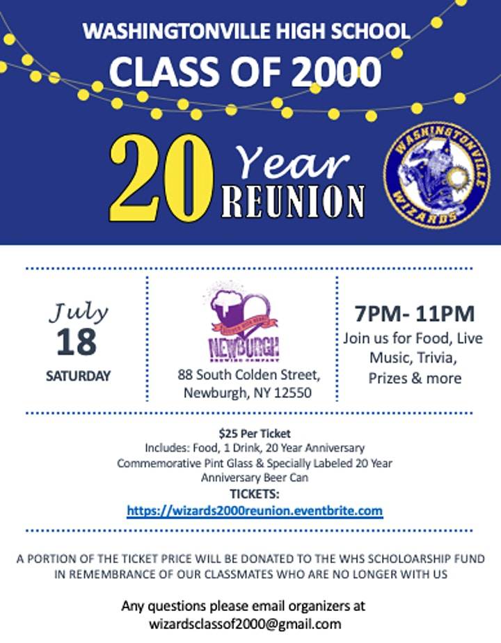WHS Class of 2000 - 20 Year Reunion! image