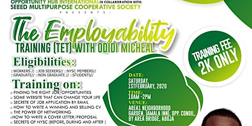 THE EMPLOYABILITY TRAINING - with odidi micheal