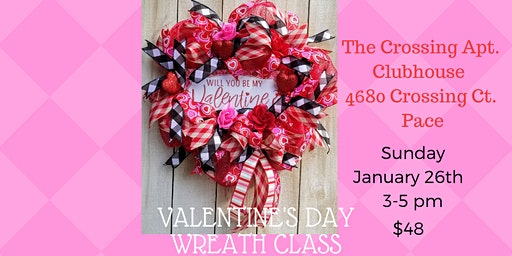 Valentine's Day Wreath Class