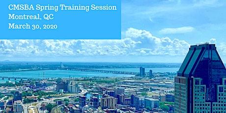 2020 CMSBA Spring Training - Montreal tickets