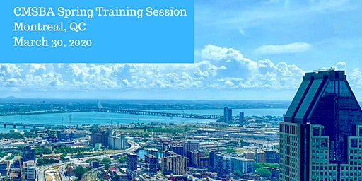 2020 CMSBA Spring Training - Montreal