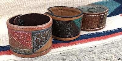 Couple Valentines Workshop - Leather Cuffs Stamping and Painting