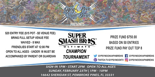 GypsyMoon Super Smash Ultimate Champion Tournament