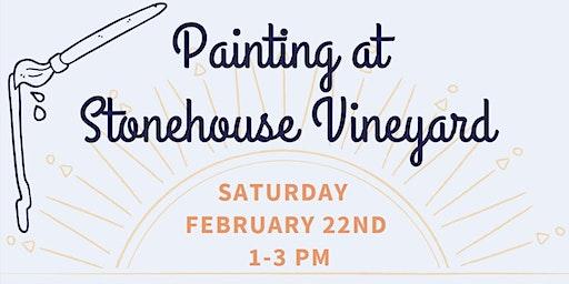 Painting at Stonehouse Vineyard