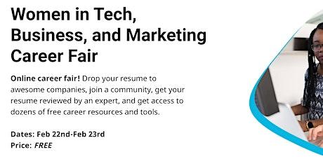 Women in Tech, Business, and Marketing Career Fair tickets