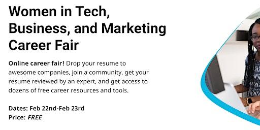 Women in Tech, Business, and Marketing Career Fair