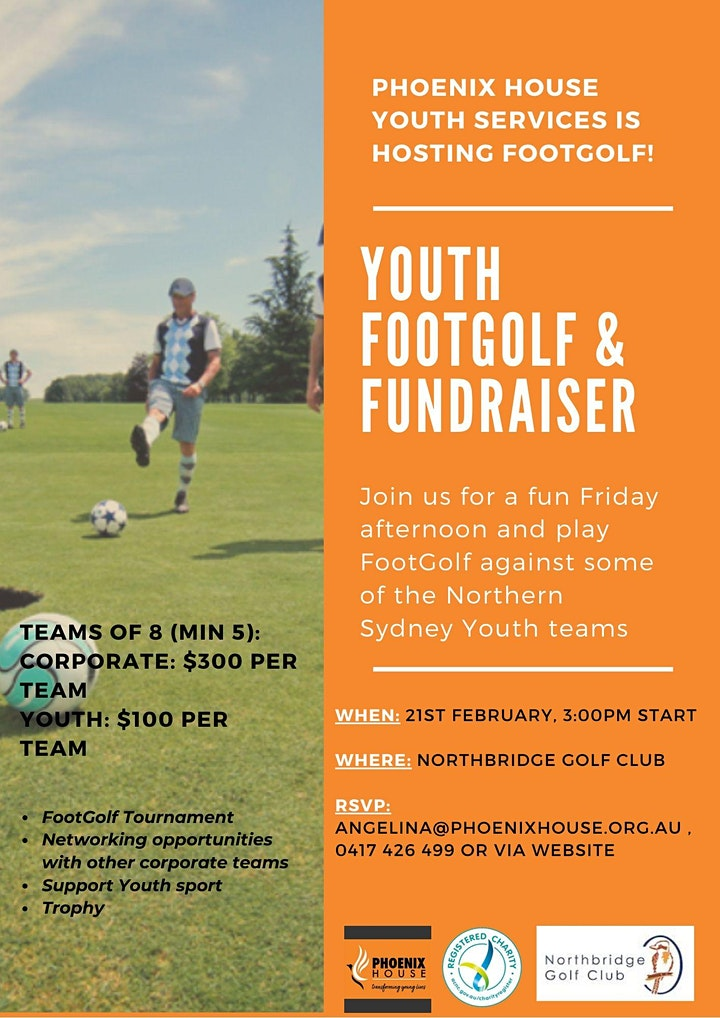 Youth FootGolf & Fundraiser image