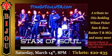 Stax of Soul - Tribute to Stax Record Label tickets