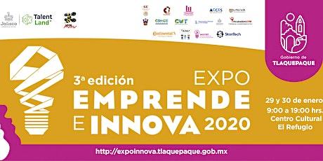 Expo Emprende e Innova 2020 Registro Talleres y Torneos de vídeo juegos entradas