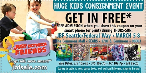 JBF Seattle/Federal Way General Admission (FREE)