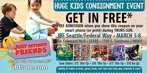 JBF Seattle/Federal Way General Admission (FREE)