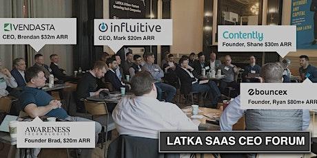 2020 Latka  Saas CEO Forum - NYC tickets